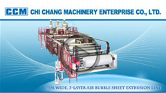 2.5M Wide, 3-layer Air Bubble Sheet Extrusion Line