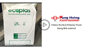 """KUNG HSING PLASTIC MACHINERY CO.,"" moving ahead in the biodegradable film processing industry."