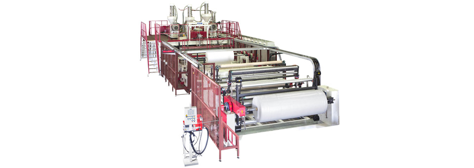 2.5M wide 10-layer Co-Extrusion Air Bubble Film Extrusion Line