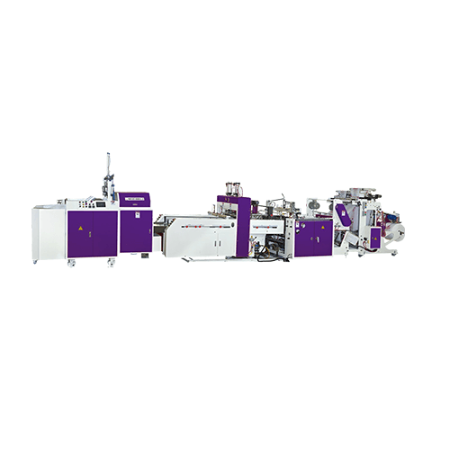BJABP+PK2-Double-Lane Fully Automatic Servo-Control High Speed T-Shirt Bag Machine with Packaging Device