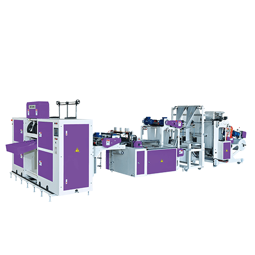 BJAHCL2+ST-Double-Independent-Lane Coreless 'Star' Folding Perforating Bag-on-Roll Machine