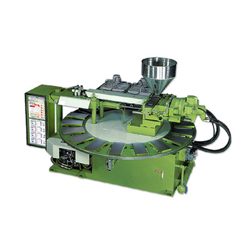 Automatic rotary type injection shoes making machine ( special for plastic foaming or compact materials ) - LC-677