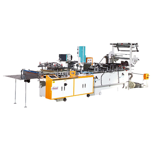 ZIPPER APPLICATOR AND HIGH SPEED SILICON CARPET SIDE SEALING MACHINE