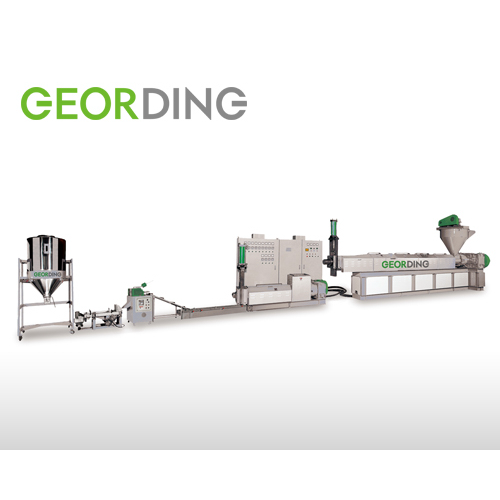 Force Feeding Two Stages Speghatti Type Recycling Machine