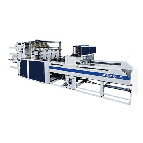 Fully Automatic 8 Tracks T-Shirt Bags & Bottom Seal Bags Making Machine / SCB-800-L8 / SCB-1100-L8