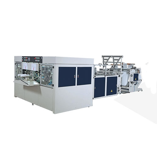 Fully Automatic High Speed 2 Lines Inter-Leaved Star-Seal & Bottom Seal Bags-On-Roll Making Machine(Coreless) / SIR-400-L2