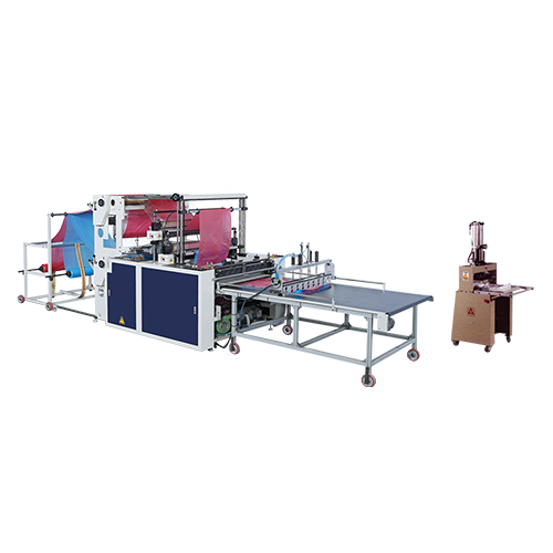 2 Tracks Bottom Seal Bags Making Machine (Manual Puncher For T-Shirt Bags) / SCB-800-L2 / SCB-1100-L2