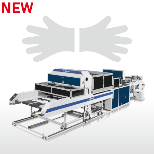 Fully Automatic High Speed Disposable Plastic Gloves Making Machine / SSD-800-HGL(Standard)