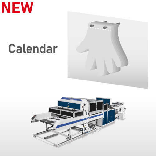 Fully Automatic High Speed Disposable Plastic Gloves Making Machine / SSD-800-HGL(Calendar)