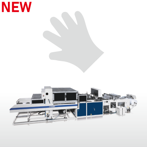 Fully Automatic High Speed Disposable Plastic Gloves Making Machine / SSD-800-HGL