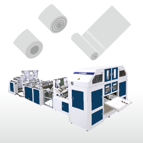 Fully Automatic High Speed 2 Lines With Core Bag on roll Making Machine / SMNRCR-1000