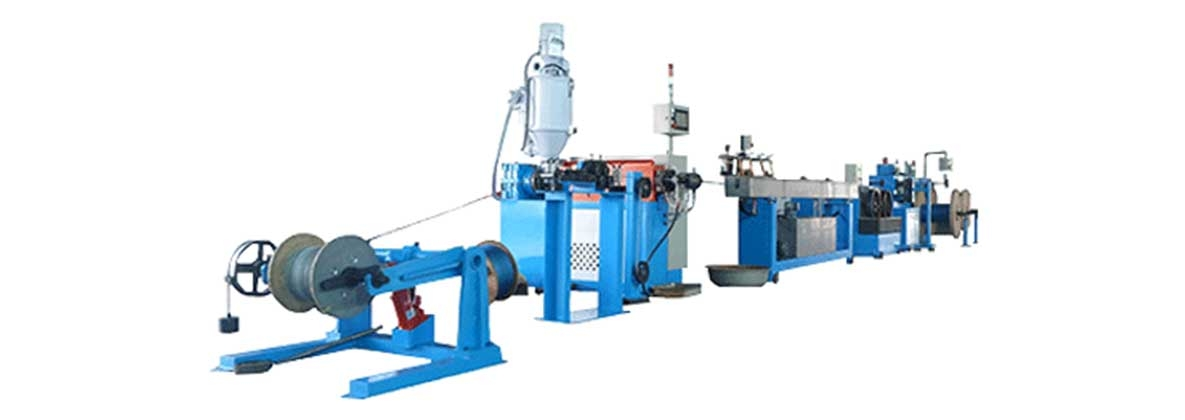 Wire rope coating PVC、PA12 extrusion line