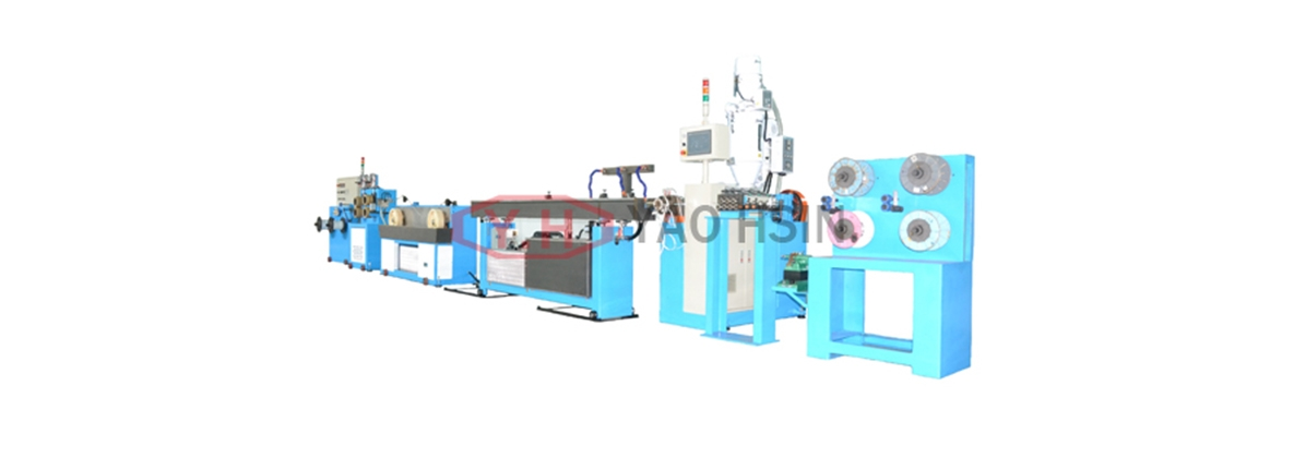 The extrusion line for the nasal line of mask