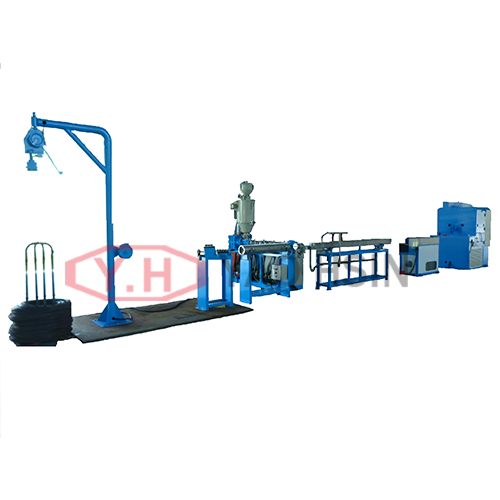PVC、PE、PA cover Iron wire extrusion equipment