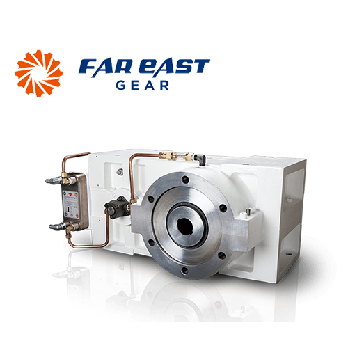 3-axis single screw extruded gear box
