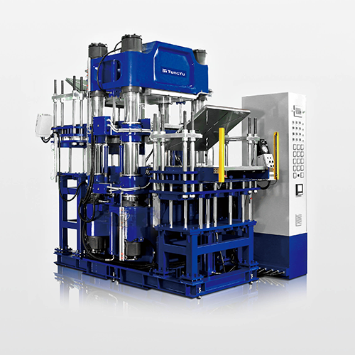 Double Decks Shuttle Type Compression Molding Machine
