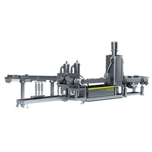 GRANULATING SYSTEM: Flow Channel of Plastic Strand Pelletizing System