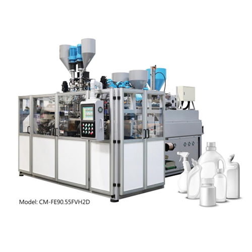 Fully Electric Co-Extrusion Blow Molding Machine (Dual Diehead & Double Station / Visi Strip)