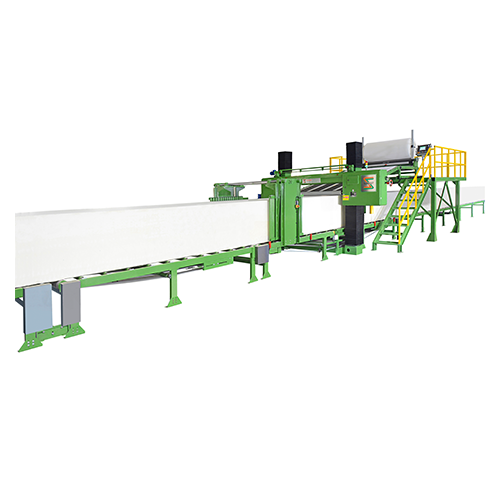 LONG SHEET CUTTER (CONVEYOR TYPE) WITH TWO SIDE TRIMMING DEVICE, PLATFORM AND WINDING DEVICE