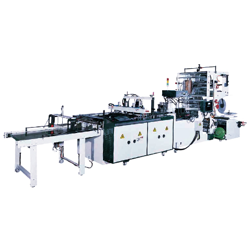 Servo Motor Drive Side Seal Bag Making Machine with Conveyor Stacker