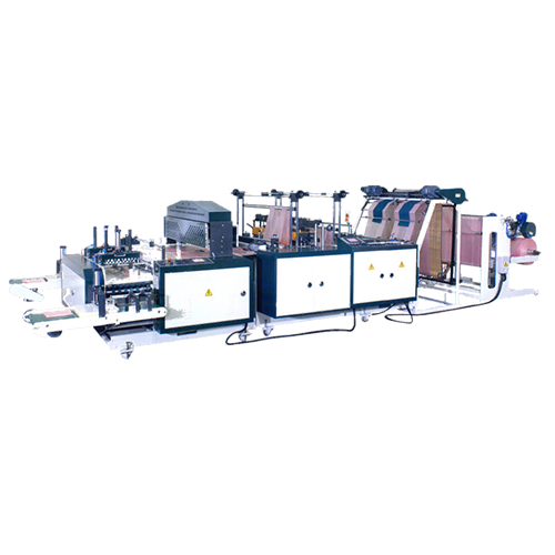 Twin Servo T-shirt bag making machine + bag folding system BFTDGFA-V