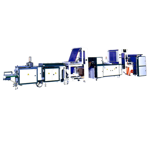 Drawtape garbage bag making machine + bag folding system DTGFA-V