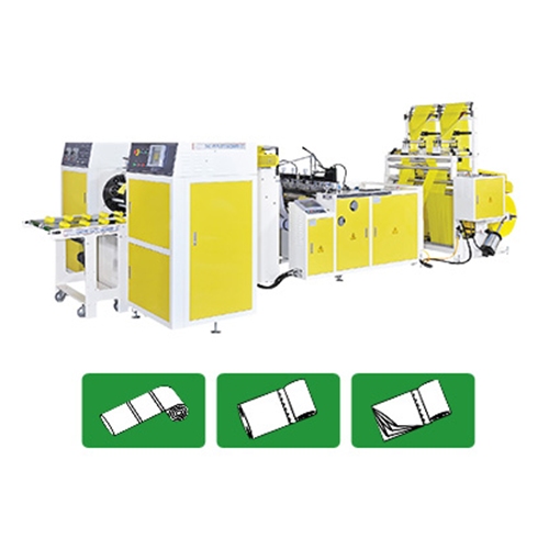 High Speed Fully Automatic 2 Lines Perforating Coreless Bags On Roll Making Machine with In-line Triangel Folding Devices by Servo Motor Control