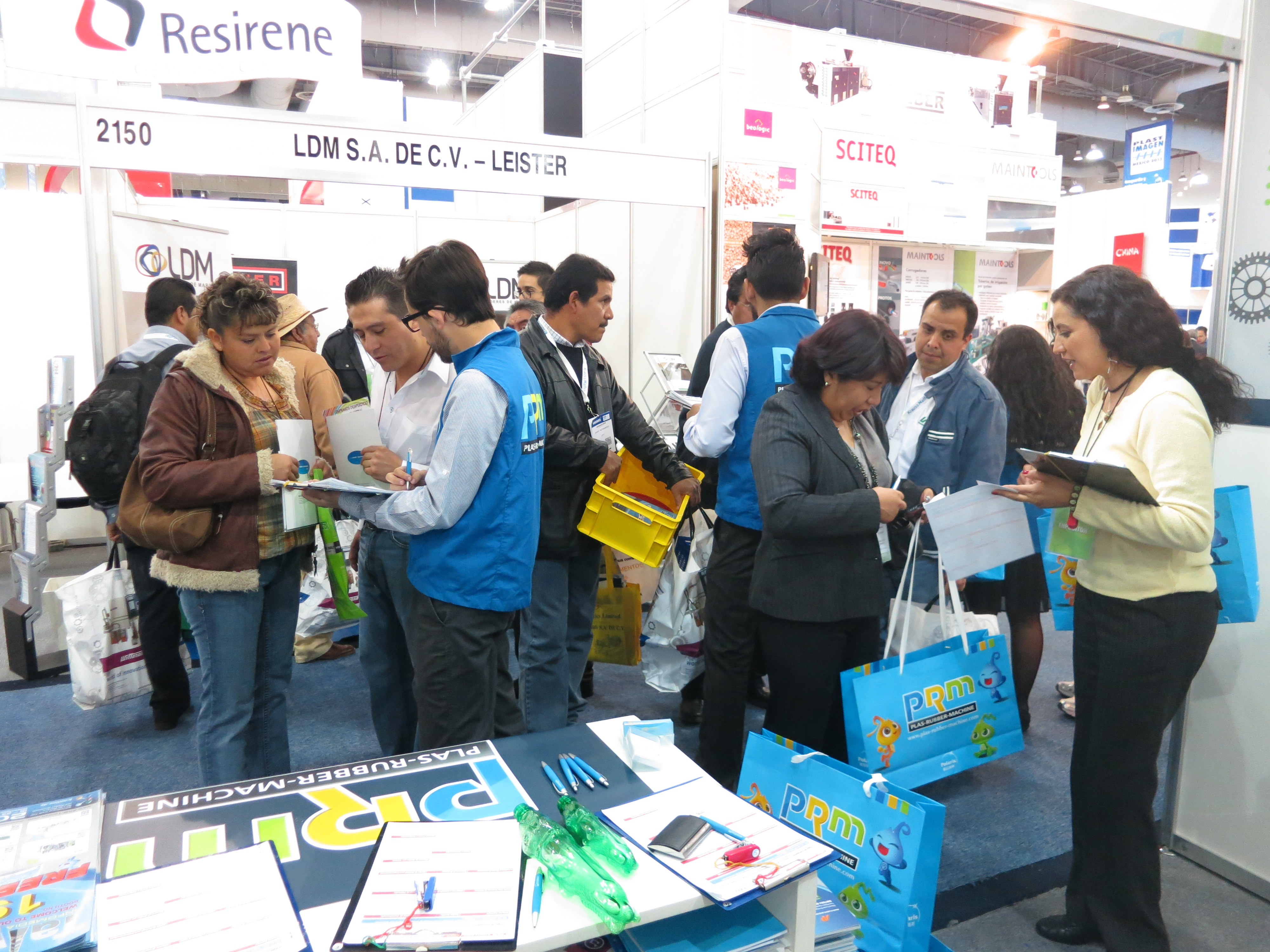 Crowded PRM Booth
