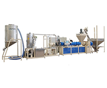 Line of the Single Screw Extrusion For PLA Compounding and  Pelletizing Making Machine