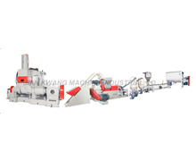 Fan cooling cutting kneader extruding plant