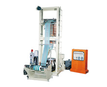 TWO COLOR HDPE HIGH SPEED INFLATION MACHINE KMTC-40/45