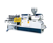 Automatic rotary type air blowing injection shoes making machine ( with automatic opening - mold system ) - LC-706