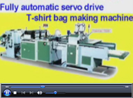 Fully Automatic Servo Driver Two lines Printed T-Shirt Bag Making Machine