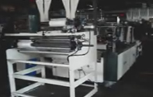 Twin Printing Photocell T-Shirt & Flat Bag Bottom Seal Bag Making Machine(Semi-Auto Rewinder)