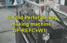 C-Fold Perforate Bag Making Machine