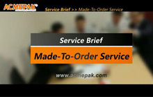 Made-to-Order Production Service