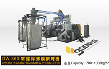 DW-350 Plastic film squeezing machine
