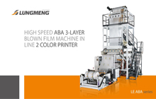 High Speed ABA 3-Layer Blown Film Machine in Line 2 Color Printer