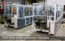 Twin Lines Sheet Protector Machine