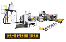 Two Stage Cutter Compactor Plastic Recycling Machine