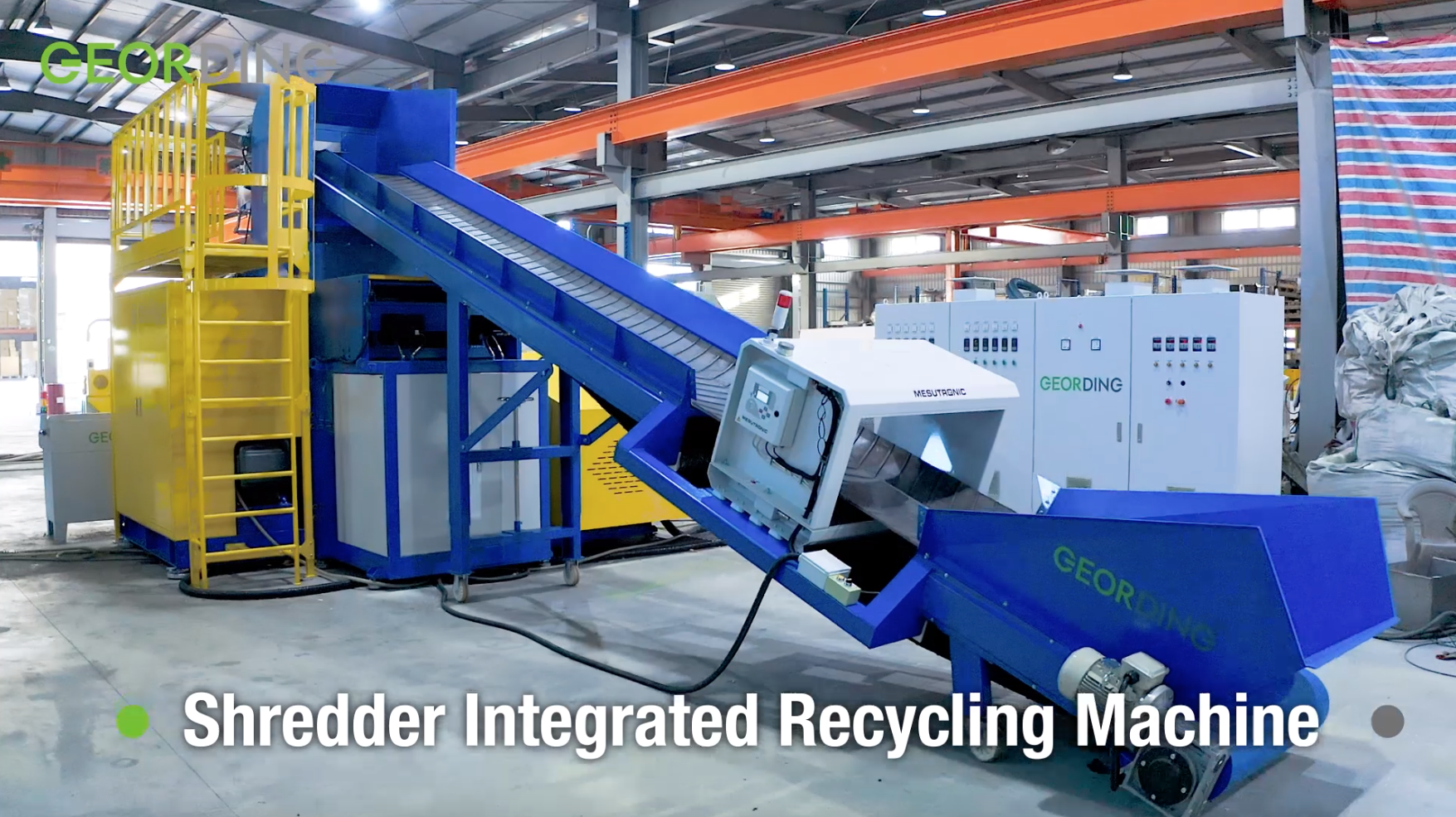 Shredder Integrated Recycling Machine