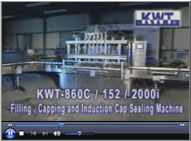 Filling, Capping and Induction Cap Sealing Machine